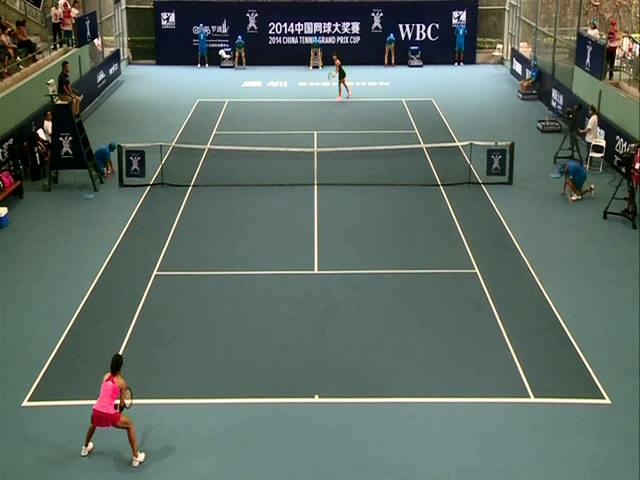 2014中国网球大奖赛26日第1场 王蔷vs朱琳