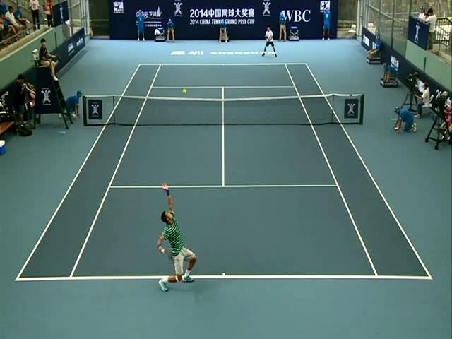 2014中国网球大奖赛26日第2场 张择vs吴迪