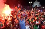 葡萄牙球迷庆祝夺冠