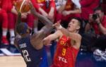 热身赛中国男篮负美国