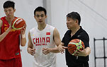 中国男篮进行赛前训练