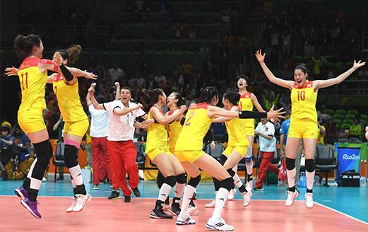 中国女排战胜塞尔维亚夺冠