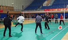 气排球交流活动结束 现场观众亲身体验气排球运动