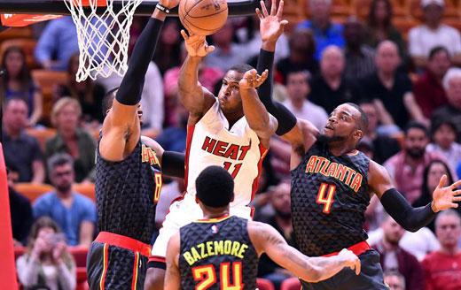 NBA常规赛:热火主场胜老
