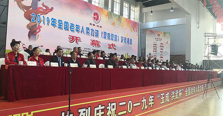 2019年全国老年人柔力球(双拍双球)交流活动在凤阳开幕